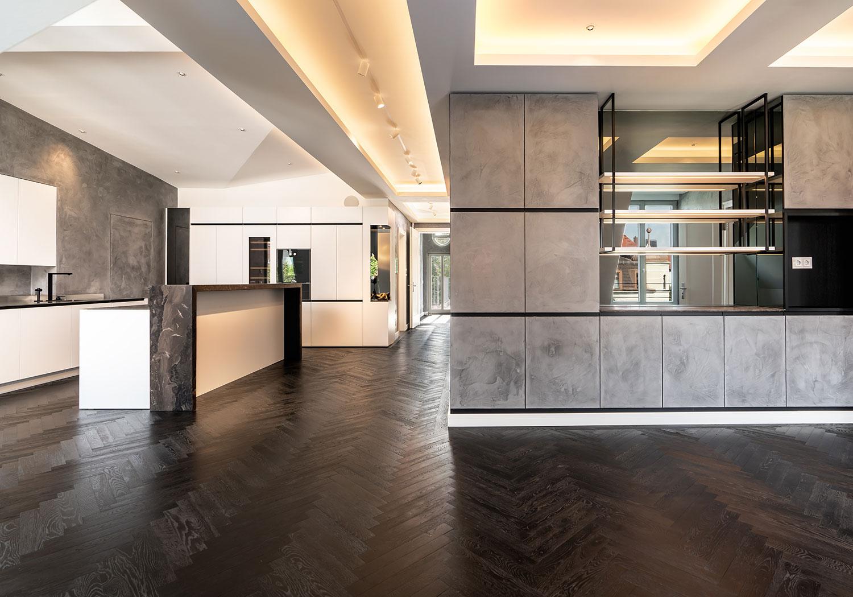 Exklusive DG-Wohnung in München vorher/nachher Immobilien-Fotos
